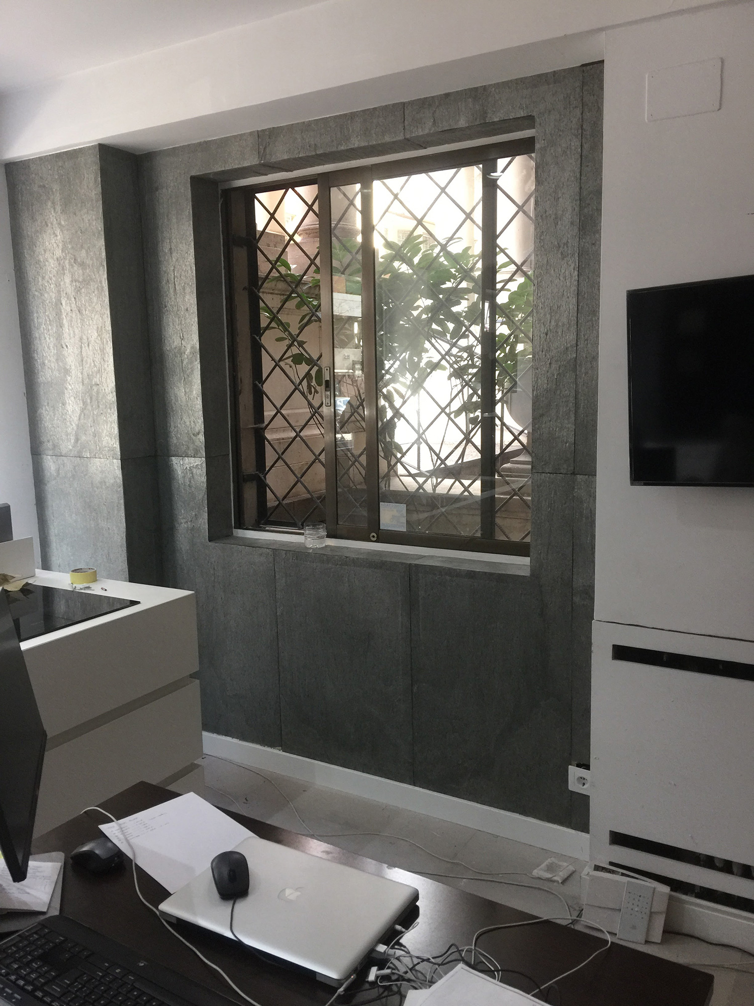 Revestido flextone pared oficina